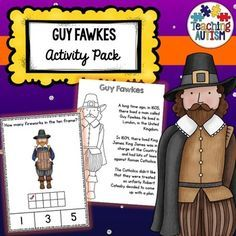 This Guy Fawkes activity bundle is packed full of different activities that are a great way to introduce the theme of Bonfire Night into your classroom while continuing learning. The following activities are included in this pack; ♦️ Flashcard Story ♦️ Word to Picture Matching ♦️ Flashcard Prompts ♦️ Fact Flip Book ♦️ Word Search ♦️ Ten Frame Counting Task Cards ♦️ Shadow Matching Task Cards ♦️ Write the Room ♦️ Comprehensio Autism Teaching, Autism Activities, Autism Classroom, Special Education Classroom, Hands On Activities, Teaching Reading, Classroom Activities, Holiday Activities, Bonfire Night Guy Fawkes