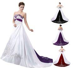 FairOnly Stain Wedding Dress  Elegant Bridal Gown Custom Size:6 8 10 12 14 16