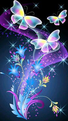Best Flower Wallpaper, Wallpaper Nature Flowers, Butterfly Wallpaper Iphone, Fairy Wallpaper, Beautiful Flowers Wallpapers, Neon Wallpaper, Beautiful Nature Wallpaper, Cute Wallpaper Backgrounds, Pretty Wallpapers