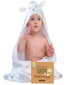 """We specially made our KeaBabies Baby Hooded Towel with premium quality 500 Gsm bamboo fibers, which is ultra soft for your baby's sensitive skin. Sized large at 35"""" by 35"""", it is suitable from newborn to age 6."""