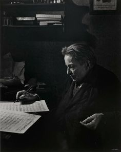 Georges Enesco - Romanian composer, violinist, pianist, conductor and teacher, regarded as Romania's most important musician and one of the world's greatest composers of the century. Photo 1954 by Yousuf Karsh