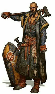 Tiefling Warpriest - Pathfinder PFRPG DND D&D d20 fantasy