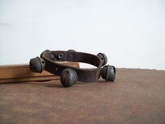 Antique brass horse bells on leather acorn bells by LostTreeMan, $39.99