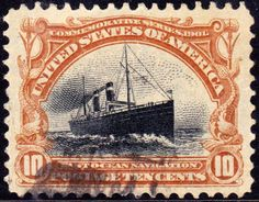 Ship St Paul 1901 Issue-10c - American History on US Postage Stamps - Wikipedia