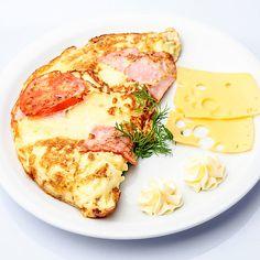 Low Carb Schinken-Käse-Tomaten-Omelett