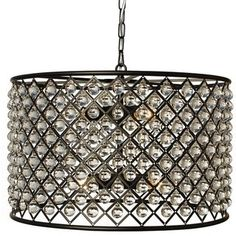 Shop for Cassiel Antique Brass Crystal Drum Chandelier. Get free delivery On EVERYTHING* Overstock - Your Online Ceiling Lighting Store! Get in rewards with Club O! Round Crystal Chandelier, Orb Chandelier, Chandeliers, Pictures Of Crystals, Hanging Crystals, Drum Pendant, Pendant Lights, Cool Floor Lamps, Crystal Beads