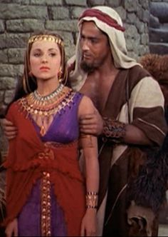 Debra Paget and John Derek in The Ten Commandments