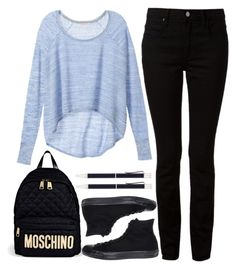 to school by ecem1 on Polyvore featuring polyvore, moda, style, Victoria's Secret, T By Alexander Wang, Converse, Moschino and Georg Jensen