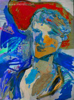 "Jose Manuel Merello.- ""Las lágrimas amarillas de Juan Valenciano""  //  ""Yellow tears Juan Valenciano"" (Digital versión) Digital File - Archivo Digital. Arte Digital. Digital Art. BLUE ART. ART BLEU. http://www.merello.com"