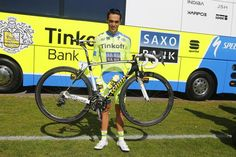 Alberto Contador (Tinkoff-Saxo) signs autographs at the stage 2 start