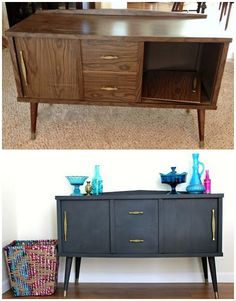 25 Beautiful Furniture Makeover Ideas Using Paint New Simple DIY Furniture Makeover and Transformation The post 25 Beautiful Furniture Makeover Ideas Using Paint appeared first on Lori& Decoration Lab. Cheap Furniture Makeover, Diy Furniture Renovation, Refurbished Furniture, Paint Furniture, Repurposed Furniture, Furniture Projects, Furniture Design, Rustic Furniture, Furniture Stores