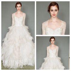 Sareh Nouri 2015 Spring Collection Brides.com  #bridal #weddinggowns #wedding #sarehnouri