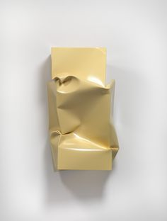 Angela de la Cruz Compressed (Cream), 2011 Oil and acrylic on aluminium, 123 x 70 x 60 cm
