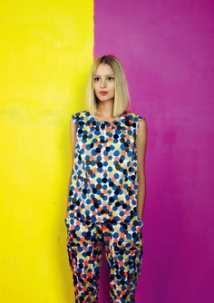 Kasha top and Linie trousers / Marimekko S/S 14 Edgy Style, Her Style, Cool Style, Marimekko Dress, Fashion Outfits, Womens Fashion, Kaftan, Spring Summer Fashion, Color Combinations
