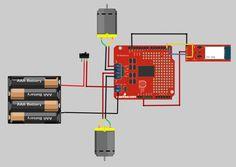 robot using amarino and arduino