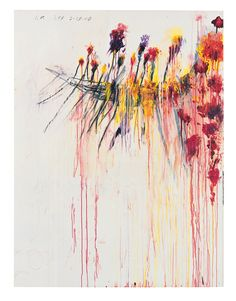 Cy Twombly Coronation of Sesostris (Part V) 2000 Acrylic, wax crayon, lead pencil on canvas 206.1 x 156.5 cm