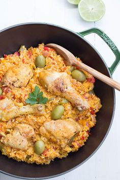 Spanish Chicken and Rice is made with fresh veggies and spices! Also known as Arroz Con Pollo, this meal is one that the entire family with love!