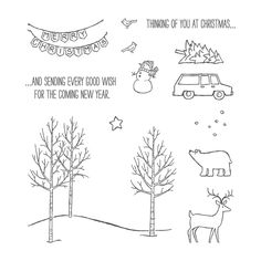 White Christmas Stamp Set - by Stampin' Up! Holiday catalog 8/28/2014-1/5/2015. $15.95 #135767. I own it.