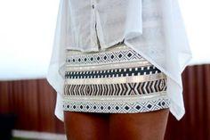 Zara AZTEC CREAM GOLD SEQUIN BEAD skirt