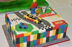 And This Lego Cake From Novelty Birthday Cakes Pretty Stinkin Lego Themed Party, Lego Birthday Party, Star Wars Birthday, Boy Birthday, Birthday Parties, Birthday Ideas, Car Party, Bolo Lego, Lego Cake
