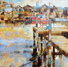 Chris FORSEY artist, paintings and art at the Red Rag British Art Gallery Watercolor Landscape, Landscape Art, Landscape Paintings, Landscapes, Seascape Art, Abstract Art, Scale Art, Watercolor Painting Techniques, Boat Art