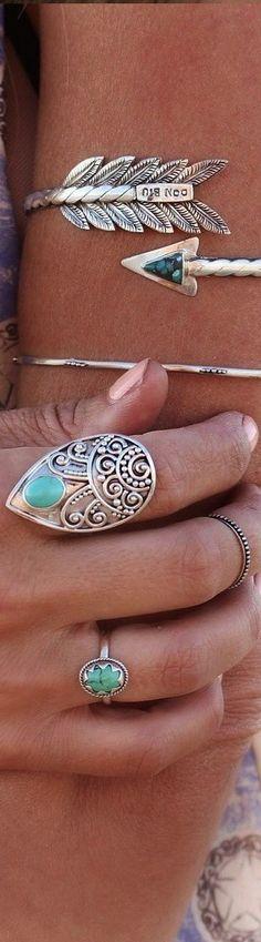 Boho Jewellery. Turquoise Rings. Bohemian Jewelry