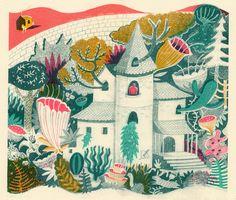 The forbidden garden, seven colour screen print by Melissa Castrillon | Brown Paper Bag
