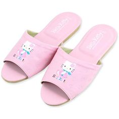8e4a784fe Pink Hello Kitty, Leather Slippers, Womens Slippers, Flip Flops, Amazon,  Sandals