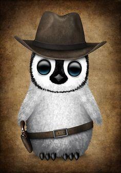 Cute Baby Penguin Wearing Cowboy Hat   Jeff Bartels