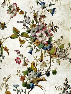 18th Century William Kilburn Textile Design