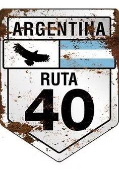 Cartel De Chapa Recortado Ruta 40 Argentina - $ 620,00 en Mercado Libre Vintage Signs, Vintage Posters, Foto Cars, Brush Background, Sublimation Mugs, Boutique Decor, Retro Logos, Old Signs, Pub Decor