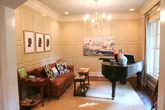 piano room with silhouettes