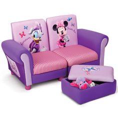 Delta Children Disney Minnie Mouse Upholstered Sofa Set for sale Ottoman Sofa, Upholstered Sofa, Disney Furniture, Kids Furniture, Kids Sofa Chair, Rosa Sofa, Minnie Mouse Toys, Delta Children, Nebraska Furniture Mart