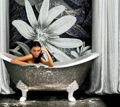 If It's Hip, It's Here: Modern Mosaic Art For Interiors, Tubs, Lamps & Rugs: SICIS - The Art Factory