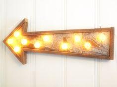 repurposed barn wood, rusty metal, farm punk arrow.