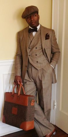Prohibition Clothing Company (I say 'ol chap care for a pint? Suit Up, Suit And Tie, Dapper Gentleman, Gentleman Style, Sharp Dressed Man, Well Dressed Men, La Mode Masculine, Clothing Company, Men's Clothing