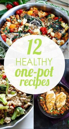 When dinner rolls around, healthy and easy is the name of the game. These healthy one pot recipes are simple, easy to make, and don't require the entire kitchen