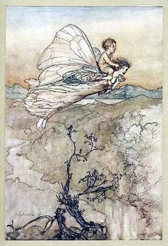 Arthur Rackham Fairy Illustrations from Shakespeare's A Midsummer Night's Dream