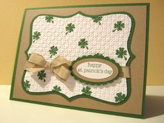 St. Patrick's Day card by Lianne Carper - Cards and Paper Crafts at Splitcoaststampers
