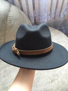 83af976b Women Men Wool Fedora Hat With Leather Ribbon Gentleman Elegant Lady Winter  Autumn Wide Brim Jazz Church Panama Sombrero Cap