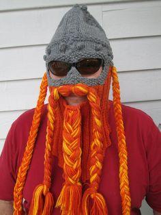 Hobbit Viking Beard and Hat Beard hat Beard Beanie by Ritaknitsall, $60.00