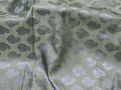 Grey Sewing Jacquard Fabric Banarasi Wedding Dress Brocade Fabric by the yard for vest jacket Silk Fabric Bridesmaid dress Crafting Costume