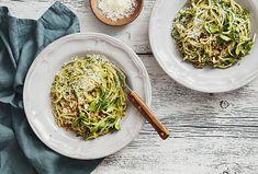 Three Unique Pasta Recipes from San Diego County Chefs & Winemakers Pasta Al Pesto, Pesto Hummus, Sauce Carbonara, Low Carb Pasta Substitute, Chefs, Pesto Rouge, Lunch Bowl Recipe, Craving Carbs, Pasta Salad