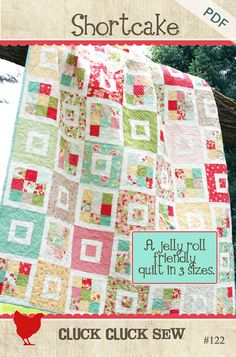 Shortcake is a super simple pattern made for beginners. It can use a jelly roll, scrap strips or strips from your favorite fabrics. The pattern com...
