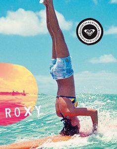 Roxy girl on a surfboard!