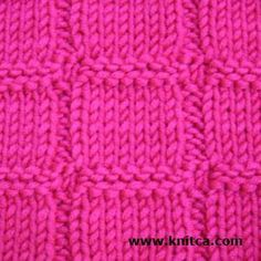 Knit & Purl :: 2   An easy pattern that is reversible.  Cast on multiples of 9 or multiples of 9 + 2 stitches for a nice selvage edge.