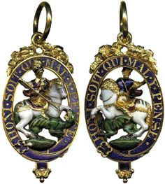 Lesser George, gold and enamel, c.1850-1880, privately made, unsigned and without marks.
