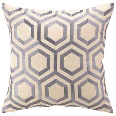 """20"""" DL Rhein Hexagon Lilac Pillow"""