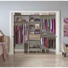 "ClosetMaid SuiteSymphony 84""W - 120""W Closet System & Reviews | Wayfair"
