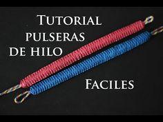 como hacer pulseras de hilo faciles - YouTube